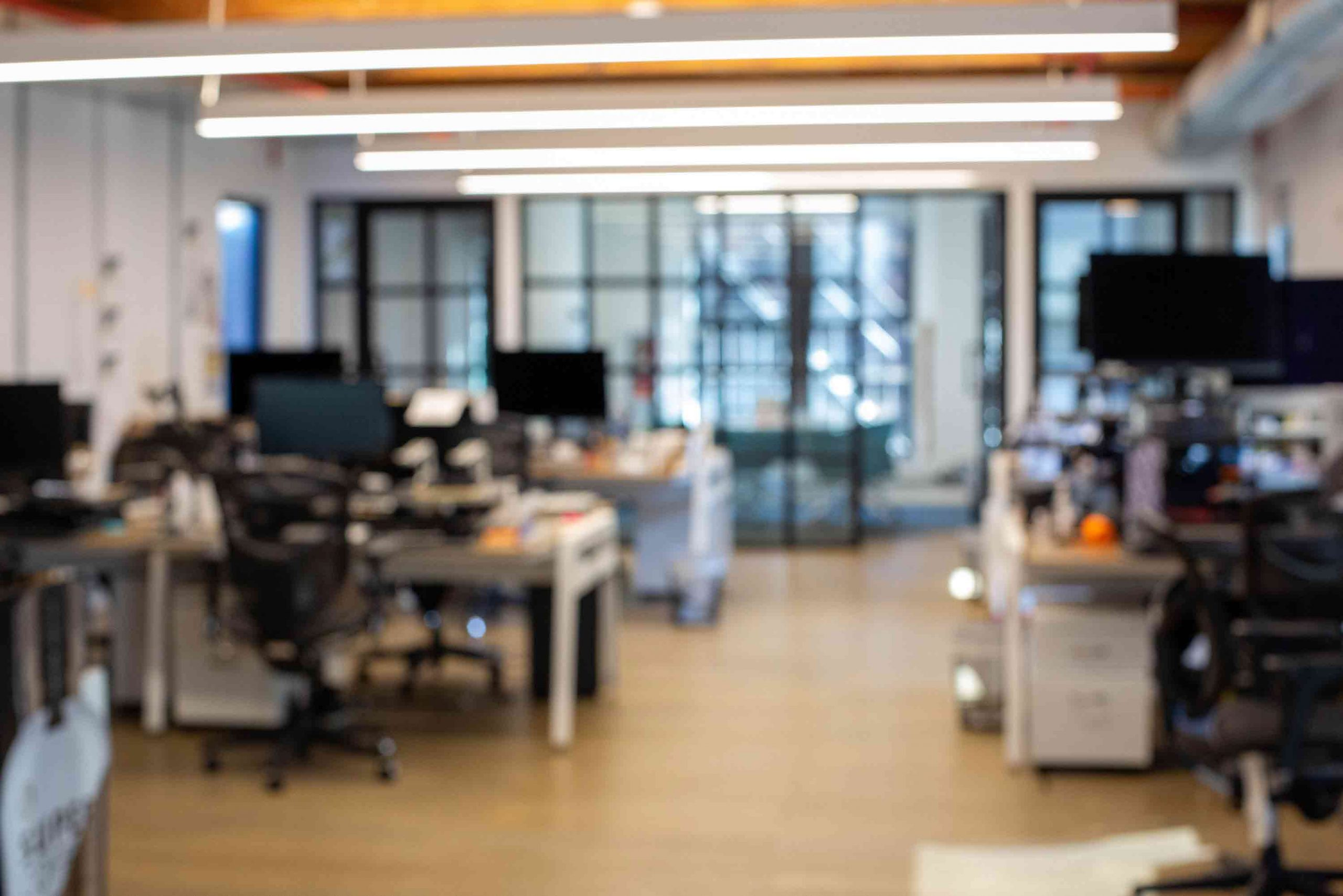 blurry office space in new york